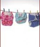 Nappies hanging on a clothes line